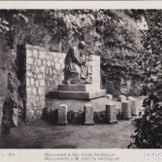 Postales: MONTSERRAT - MONUMENTO A M. JACINTO VERDAGUER (NO. 414) - FOT. DOM RIPOL. Lote 182865813