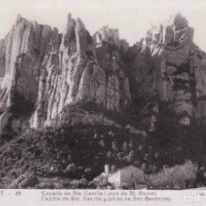 Postales: MONTSERRAT - CAPILLA DE STA. CECILIA Y PICOS DE SAN GERÓNIMO (NO. 86) - FOT. JUNQUÉ. Lote 182866565