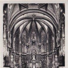 Postales: MONTSERRAT - ALTAR MAYOR DE LA BASÍLICA (NO. 59) - FOT. JUNQUÉ . Lote 182873215