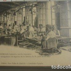 Postales: SAN FELIU DE GUIXOLS Nº6 EMILIO CANET EDITOR - SELECCIÓN DE ESCOGEDORES DE TAPONES . Lote 182964551
