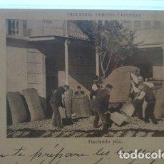 Postales: SAN FELIU DE GUIXOLS Nº16 A. MAURI - HACIENDO PILA INDUSTRIA CORCHO - TAPONERA . Lote 182965176