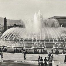 Postales: BARCELONA, PARQUE DE MONTJUICH, SURTIDOR GIGANTE - A. ZERKOWITZ - ESCRITA 1959. Lote 182986897