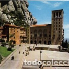 Postales: BARCELONA - Nº 19 MONTSERRAT - FACHADA Y PLAZA DEL SANTUARIO - AÑO 1973 - SIN CIRCULAR. Lote 183016496
