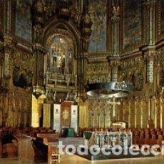 Postales: BARCELONA - Nº 29 MONTSERRAT -INTERIOR DE LA BASILICA - AÑO 1964 - SIN CIRCULAR. Lote 183016651