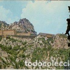 Postales: BARCELONA - Nº 128 MONTSERRAT VISTA DEL MONASTERIO DESDE EL CAMINO DE LA CUEVA - 1977 - SIN CIRCULAR. Lote 183018398