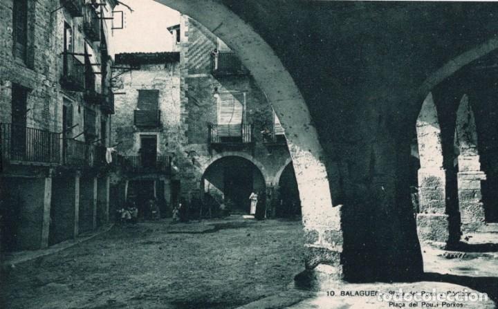 BALAGUER. 10 PLAZA DEL POZO (Postales - España - Cataluña Antigua (hasta 1939))
