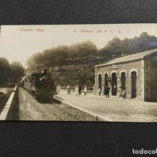 Postales: COLONIA GÜELL-SANTA COLOMA DE CERVELLO-ESTACION DEL FERROCARRIL-POSTAL FOTOGRAFICA ANTIGUA-(64.336). Lote 183319363