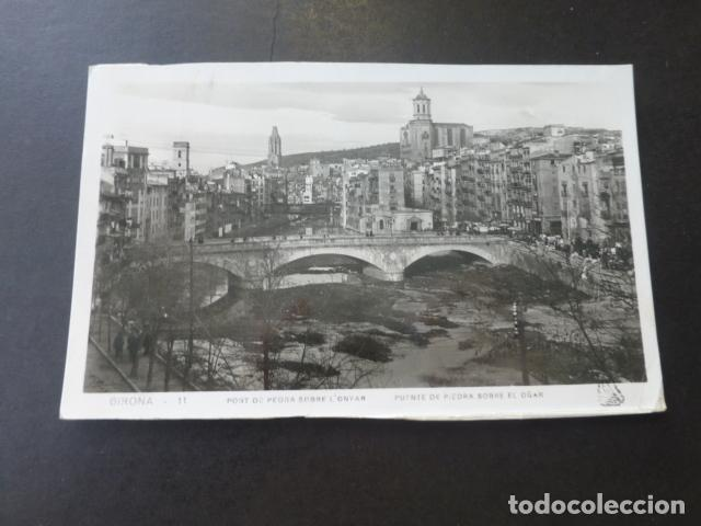 GERONA PUENTE DE PIEDRA SOBRE EL OÑAR (Postales - España - Cataluña Antigua (hasta 1939))