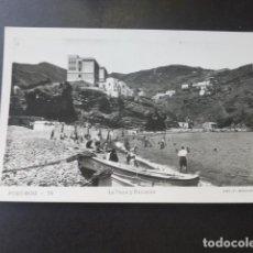 Postales: PORT BOU GERONA LA PLAYA Y ESCUELAS. Lote 183454731