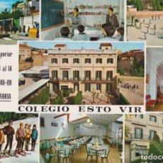 Postales: BARCELONA, SARRIA, COLEGIO ESTO VIR - EDITA ARTFI - EDITADA EN 1969 - ESCRITA. Lote 183530506