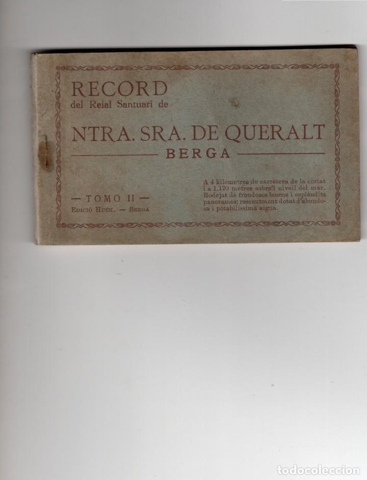 BERGA. RECORD NTRA SRA DE QUERALT. TOMO II. BLOC DE 18 POSTALES COMPLETO (Postales - España - Cataluña Antigua (hasta 1939))