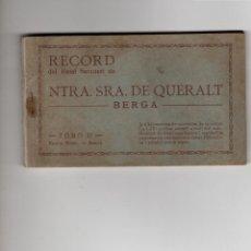 Postales: BERGA. RECORD NTRA SRA DE QUERALT. TOMO II. BLOC DE 18 POSTALES COMPLETO. Lote 183575435