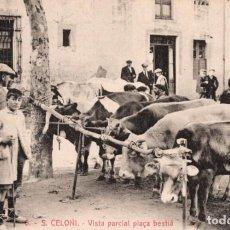 Postales: SANT CELONI. 6 VISTA PARCIAL PLAÇA BESTIÀ. ROISIN. Lote 183583765