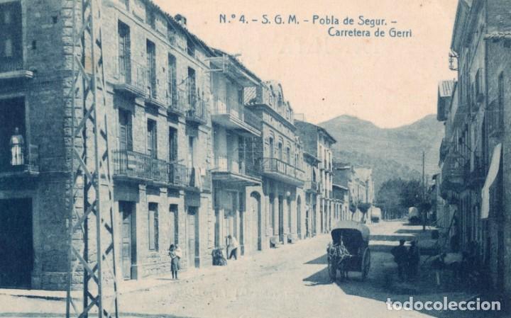 POBLA DE SEGUR. 4 CARRETERA DE GERRI. ODROG (Postales - España - Cataluña Antigua (hasta 1939))