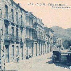 Postales: POBLA DE SEGUR. 4 CARRETERA DE GERRI. ODROG. Lote 183583988