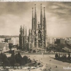 Postales: BARCELONA SAGRADA FAMILIA ESCRITA. Lote 183584340