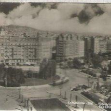Postales: BARCELONA PLAZA CALVO SOTELO ESCRITA. Lote 183584397