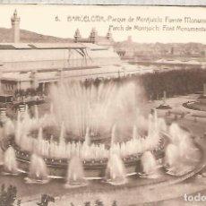 Postales: BARCELONA MONTJUICH SIN ESCRIBIR. Lote 183584901