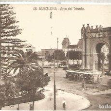 Postales: BARCELONA ARCO TRIUNFO TRANVIA TRAMWAY ESCRITA 1931. Lote 183584977