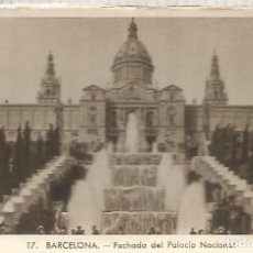 Postales: BARCELONA PALACIO NACIONAL SIN ESCRIBIR. Lote 183585147