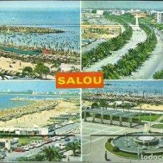 Postales: TARJETA POSTAL DE SALOU , CON UNA SOLAPA QUE TIENE 13 VISTAS. Lote 183746951
