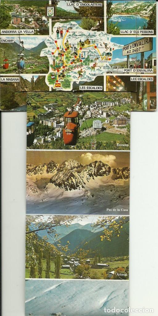 Postales: Tarjeta postal de Andorra , con una solapa que tiene 9 vistas - Foto 2 - 183747051