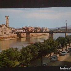 Postales: TORTOSA TARRAGONA EL EBRO A SU PASO POR LA CIUDAD. Lote 183812502