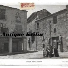 Postales: TARREGA .- PLAZA SAN ANTONIO .- EDICION LIBRERIA GÜELL / CIRCULADA. Lote 183860681