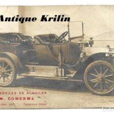 Postales: BARCELONA .- AUTOMOVILES DE ALQUILER M. COMERMA . Lote 183894362