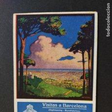 Postales: BARCELONA-PUBLICIDAD COMPAÑIA GENEREAL DE AUTOBUSES-POSTAL ANTIGUA-(64.790). Lote 184395736