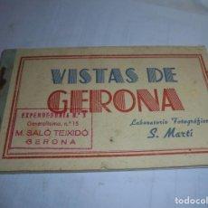 Postales: MAGNIFICO BLOC CON 14 POSTALES ANTIGUAS VISTAS DE GERONA FOTOGRAFO S.MARTI. Lote 184630783