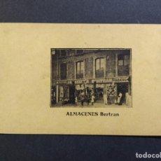 Postales: BARCELONA-ALMACENES BERTRAN-TIENDA-VER REVERSO-(65.003). Lote 184652246