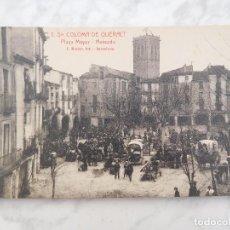 Postales: POSTAL DE SANTA COLOMA DE QUERALT. PLAZA MAYOR MERCADO 3. ED. ROISIN SIN CIRCULAR. Lote 184657755