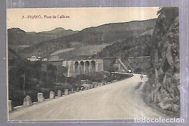 TARJETA POSTAL. BARCELONA. FIGARO. PONT DE CALLICAN. THOMAS. (Postales - España - Cataluña Antigua (hasta 1939))
