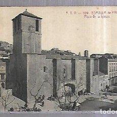 Postales: TARJETA POSTAL. ESPLUGA DE FRANCOLI. TARRAGONA. PLAZA DE LA IGLESIA. 599. ATV. Lote 184693931