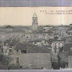 Postales: TARJETA POSTAL. ESPLUGA DE FRANCOLI. TARRAGONA. VISTA PARCIAL. IGLESIA DE SAN MIGUEL. ATV. 600. Lote 184694047
