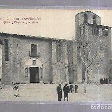 Postales: TARJETA POSTAL. CAMPODRON, GERONA. IGLESIA Y PLAÇA DE SANTA MARIA. 1314. ATV. Lote 184696651