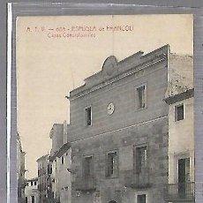 Postales: TARJETA POSTAL. ESPLUGA DE FRANCOLI. TARRAGONA. CASAS CONSISTORIALES. 603. ATV. Lote 184696697