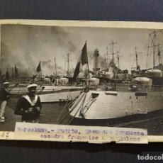 Postales: BARCELONA-PUERTO-RECUADRA FRANCESA-BARCO-FOTO PEGADA-ARCHIVO ROISIN-POSTAL-VER REVERSO-(65.120). Lote 184726262