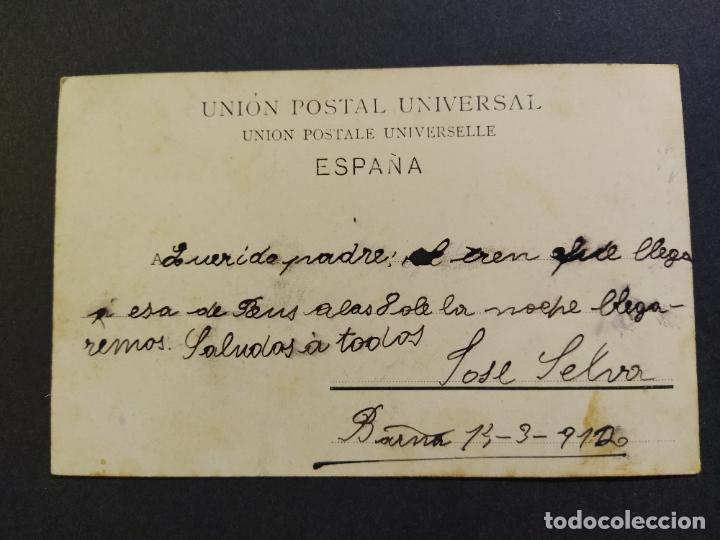 Postales: BARCELONA-ESCALERA DE LA PAZ-REVERSO SIN DIVIDIR-POSTAL ANTIGUA-(65.191) - Foto 3 - 185738772