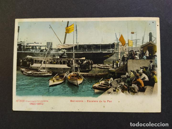 BARCELONA-ESCALERA DE LA PAZ-REVERSO SIN DIVIDIR-POSTAL ANTIGUA-(65.191) (Postales - España - Cataluña Antigua (hasta 1939))