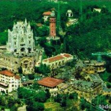 Postales: BARCELONA, VISTA AEREA DL TIBIDABO, EDITADA POR RAKER Nº 17, CIRCULADA EN 1961. Lote 185992577