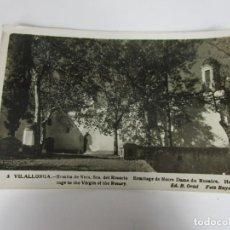 Postales: POSTAL - VILALLONGA - ERMITA DE NTRA. SRA DEL ROSARIO - FOTO RAYMOND - CIRCULADA. Lote 186394500