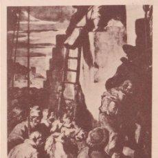 Postales: CATEDRAL DE VICH, J.M. SERT, EL CALVARI - FOTOTIPIA THOMAS Nº 50 - S/C. Lote 187466385