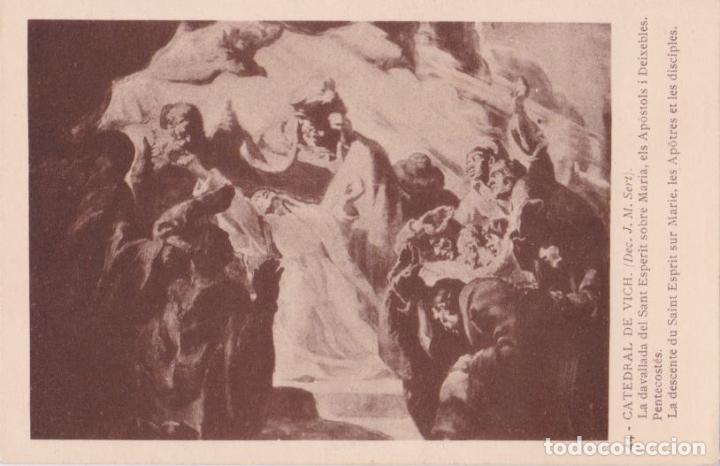 CATEDRAL DE VICH, J.M. SERT, LA DAVALLADA DEL SANT ESPERIT - FOTOTIPIA THOMAS Nº 44 - S/C (Postales - España - Cataluña Antigua (hasta 1939))