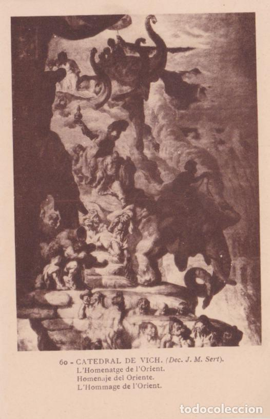CATEDRAL DE VICH, J.M. SERT, L'HOMENATGE DE L'ORIENT - FOTOTIPIA THOMAS Nº 60 - S/C (Postales - España - Cataluña Antigua (hasta 1939))