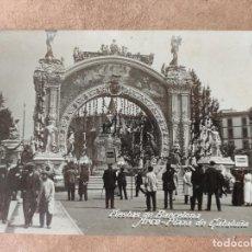 Postales: FIESTAS DE BARCELONA - ARCO PLAZA DE CATALUÑA, 1910. Lote 188372067