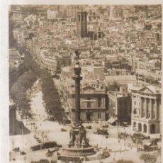 Postais: BARCELONA MONMENTO A COLON TRANVIAS POSTAL NO CIRCULADA. Lote 189549155