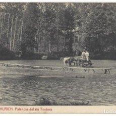 Postales: HOSTALRICH.- Nº 12, PALANCAS DEL RIU TORDERA. THOMAS. ANIMADA. GERONA- SIN CIRCULAR . Lote 190015167