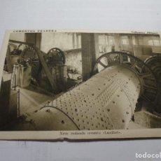 Postales: MAGNIFICA ANTIGUA POSTAL CEMENTOS FRADERA VALLCARCA (SITGES) NAVE MOLIENTO CEMENTO. Lote 190428410